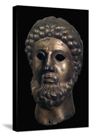 Romano-British bronze head, 2nd century-Unknown-Stretched Canvas Print