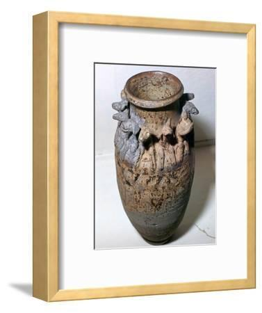 Vase depicting the animals of the Chinese zodiac, 6th century-Unknown-Framed Giclee Print