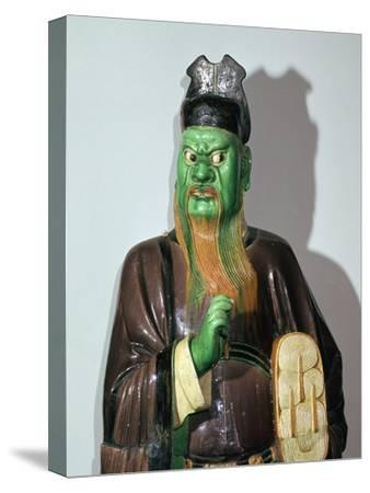 Chinese statuette of a judge of Hell-Unknown-Stretched Canvas Print