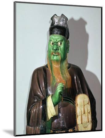 Chinese statuette of a judge of Hell-Unknown-Mounted Giclee Print