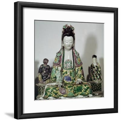 Statuette Chinese of Kuan-Yin, 17th century-Unknown-Framed Giclee Print