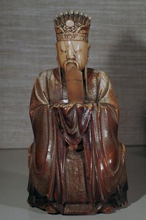 Ivory Chinese figurine of Tien Kuan-Unknown-Framed Giclee Print