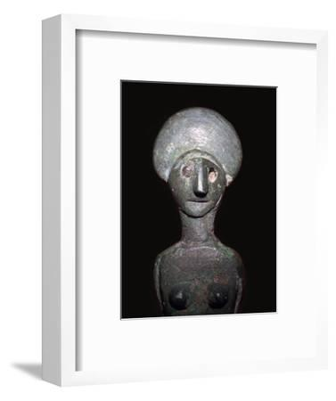 Detail of a Celtic-Iberian style bronze female figurine-Unknown-Framed Giclee Print