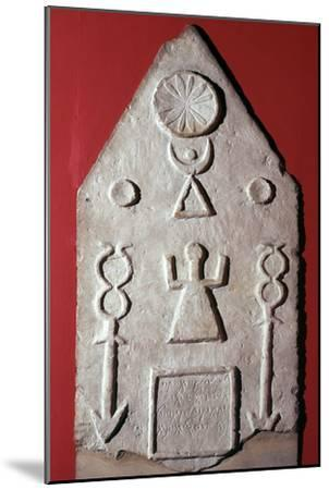 Limestone stela with a dedication to Baal, from Carthage, north Africa, 2nd-1st century BC-Unknown-Mounted Giclee Print
