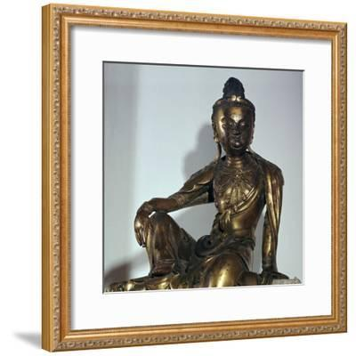 Chinese statuette of the Bodhisattva Kuan-yin, 12th century-Unknown-Framed Giclee Print