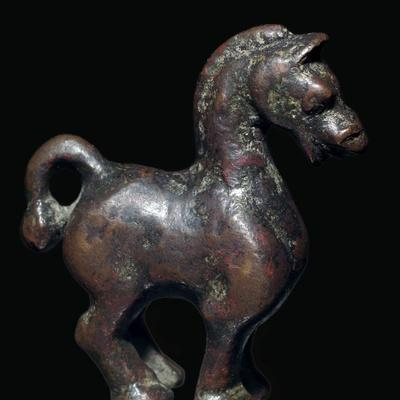 Han Dynasty Chinese bronze horse-Unknown-Framed Giclee Print
