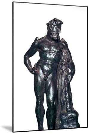 Roman bronze statuette of Hercules with his lion skin and club, 1st-2nd century BC-Unknown-Mounted Giclee Print