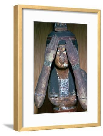 Wooden figure of the Egyptian goddess Nepthys, 15th century-Unknown-Framed Giclee Print