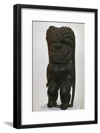 The Hawaiian war-god Kukailimoku from Polynesia, 19th century-Unknown-Framed Giclee Print