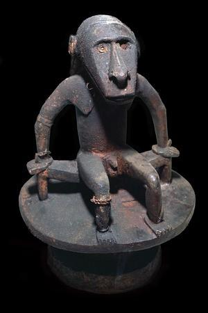Wooden figure of a sea spirit, with head in the form of a shark, from the Solomon Islands-Unknown-Framed Giclee Print