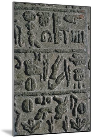 Hittite Hieroglyphs from an inscription on a monument, 15th century BC-Unknown-Mounted Giclee Print