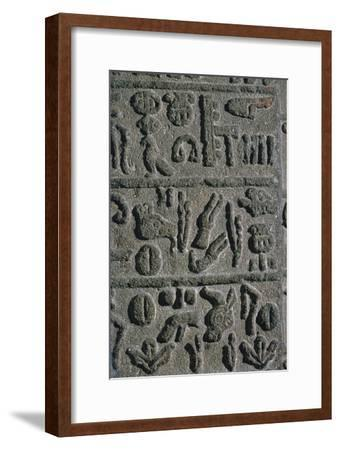 Hittite Hieroglyphs from an inscription on a monument, 15th century BC-Unknown-Framed Giclee Print