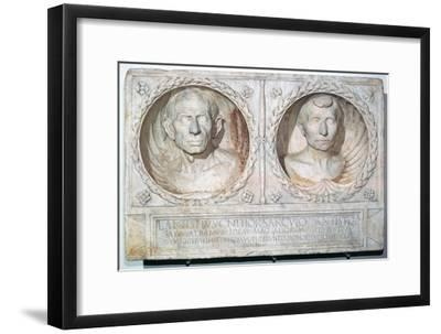 Roman funerary relief of a husband and wife-Unknown-Framed Giclee Print