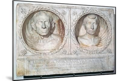 Roman funerary relief of a husband and wife-Unknown-Mounted Giclee Print