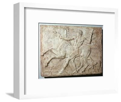Marble Roman relief of a boy and a horse, Hadrian's villa, 1st century-Unknown-Framed Giclee Print