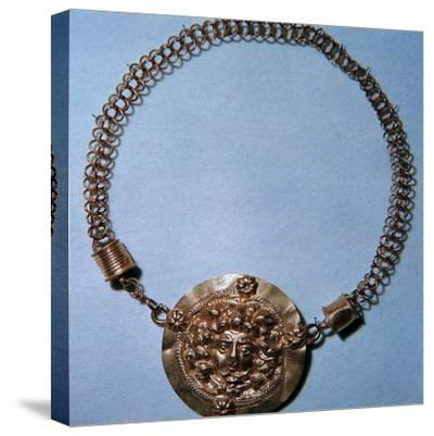 Roman gold pendant of a Gorgon's head, 2nd century-Unknown-Stretched Canvas Print
