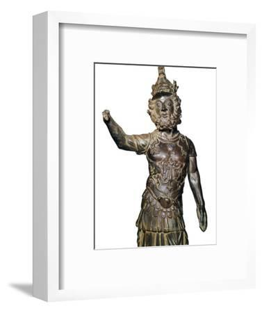 Roman bronze statuette of the god Mars, 2nd century-Unknown-Framed Giclee Print