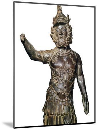 Roman bronze statuette of the god Mars, 2nd century-Unknown-Mounted Giclee Print