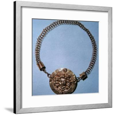 Roman gold pendant of a Gorgon's head, 2nd century-Unknown-Framed Giclee Print