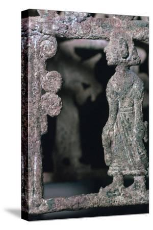 Detail of a bronze stand, 17th century BC-Unknown-Stretched Canvas Print