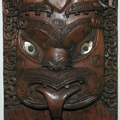 Maori wood-carving representing an ancestor-Unknown-Framed Giclee Print
