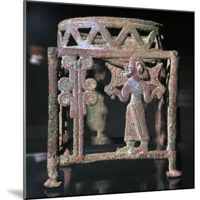 Cyprian bronze stand with open-work figures, 17th century BC-Unknown-Mounted Giclee Print
