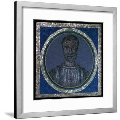 Early Christian mosaic of Flavius Iulius Iulianus, 4th century-Unknown-Framed Giclee Print