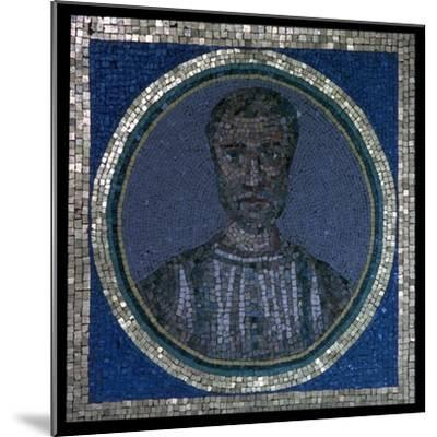 Early Christian mosaic of Flavius Iulius Iulianus, 4th century-Unknown-Mounted Giclee Print