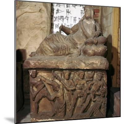 Etruscan sarcophagus showing a battle scene-Unknown-Mounted Giclee Print