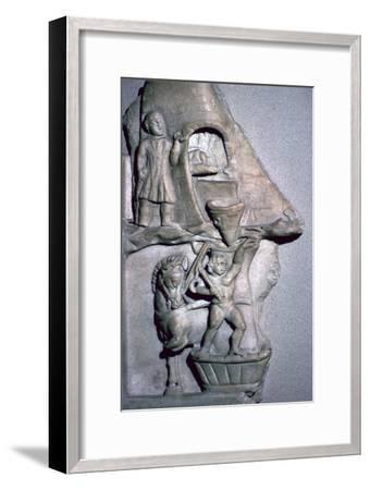 Roman marble relief of a baker's oven and corn mill-Unknown-Framed Giclee Print