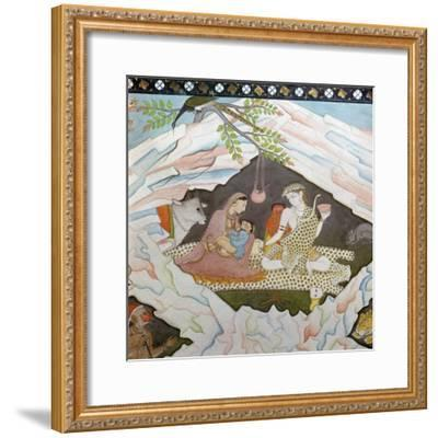 The holy family seated in a cave on Mount Kailasa-Unknown-Framed Giclee Print