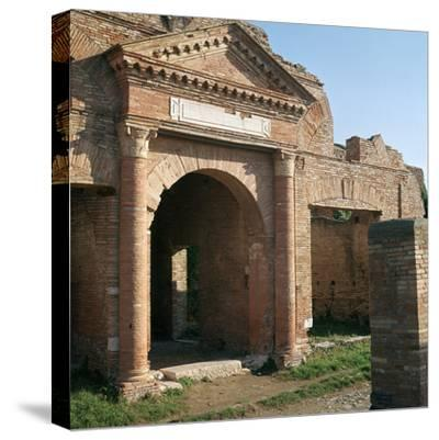Doorway and warehouse at the Roman port of Ostia, 2nd century-Unknown-Stretched Canvas Print