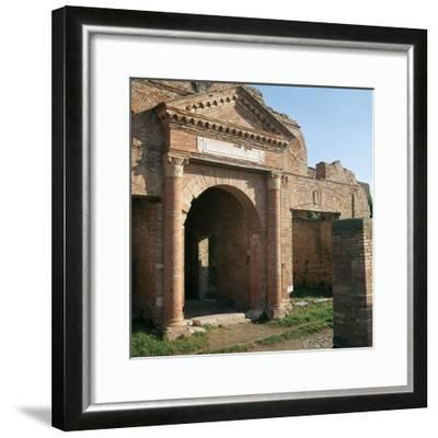 Doorway and warehouse at the Roman port of Ostia, 2nd century-Unknown-Framed Photographic Print