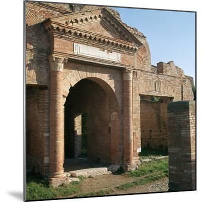 Doorway and warehouse at the Roman port of Ostia, 2nd century-Unknown-Mounted Photographic Print