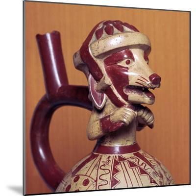 Mochicha stirrup-spout vessel, 1st century-Unknown-Mounted Giclee Print
