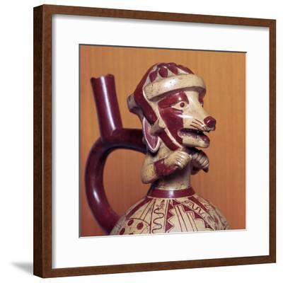 Mochicha stirrup-spout vessel, 1st century-Unknown-Framed Giclee Print