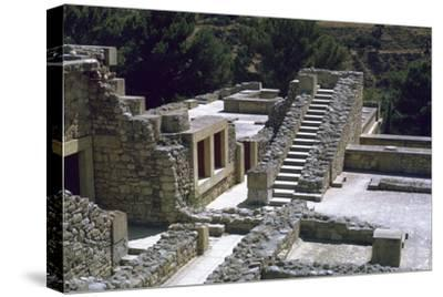 Minoan Royal palace at Knossos on Crete-Unknown-Stretched Canvas Print