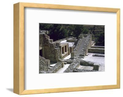 Minoan Royal palace at Knossos on Crete-Unknown-Framed Photographic Print
