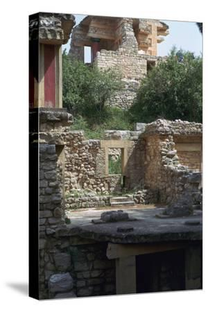 Buildings in the southern part of the Minoan Royal Palace at Knossos, 21st century BC-Unknown-Stretched Canvas Print