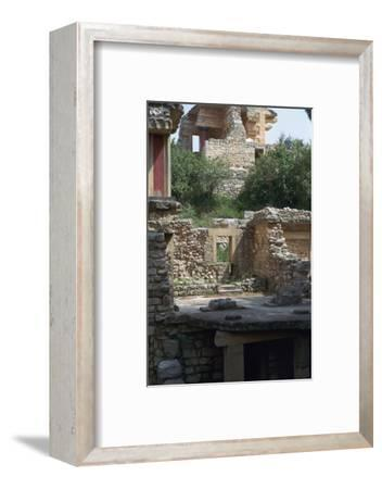 Buildings in the southern part of the Minoan Royal Palace at Knossos, 21st century BC-Unknown-Framed Photographic Print