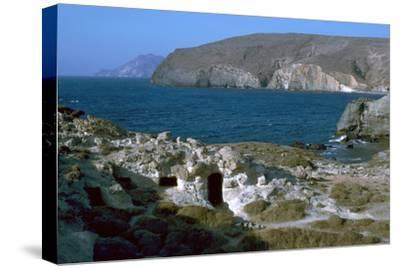 Phyllakopi on Milos, an ancient centre of the obsidian trade, 31st century BC-Unknown-Stretched Canvas Print
