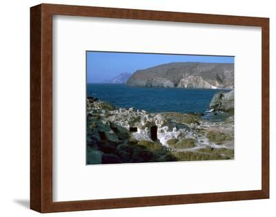 Phyllakopi on Milos, an ancient centre of the obsidian trade, 31st century BC-Unknown-Framed Photographic Print