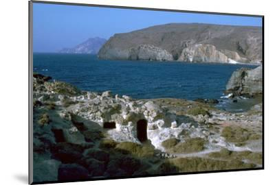 Phyllakopi on Milos, an ancient centre of the obsidian trade, 31st century BC-Unknown-Mounted Photographic Print