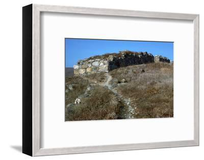 Wall of the pre-historic site at Phyllakopi on Milos, 31st century BC-Unknown-Framed Photographic Print