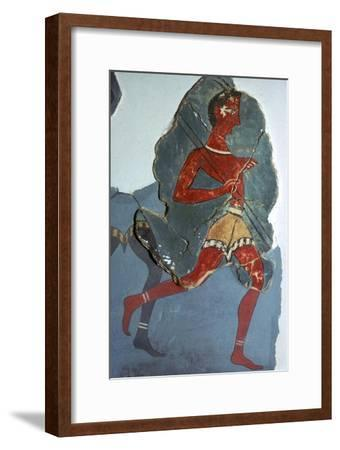 Fragment of a Minoan fresco known as the 'Captain of the Blacks', 15th century BC-Unknown-Framed Giclee Print