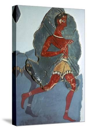 Fragment of a Minoan fresco known as the 'Captain of the Blacks', 15th century BC-Unknown-Stretched Canvas Print