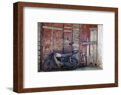 Motorcycle in the street in Khania-Unknown-Framed Photographic Print