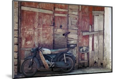 Motorcycle in the street in Khania-Unknown-Mounted Photographic Print