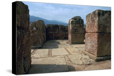 Pillar-crypt of the Minoan Royal palace at Mallia, Bronze Age-Unknown-Stretched Canvas Print