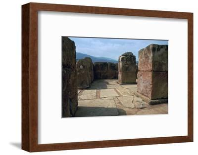 Pillar-crypt of the Minoan Royal palace at Mallia, Bronze Age-Unknown-Framed Photographic Print
